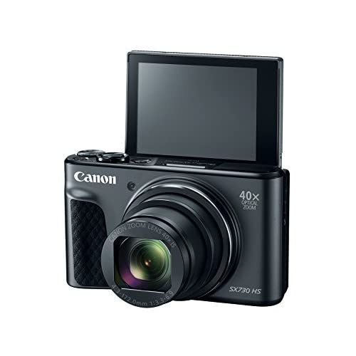 Canon PowerShot SX730 Digital Camera w/40x Optical Zoom & 3 Inch Tilt LCD - Wi-Fi, NFC, Bluetooth Enabled (Black)