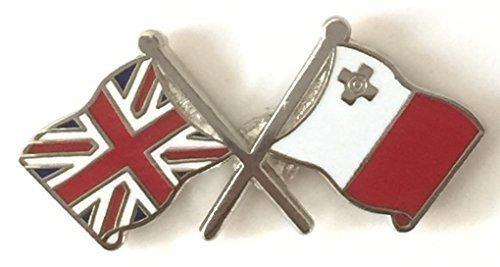 Pin Pabell Nacional Doble Reino Amistad Unido y Malta XU0aZx