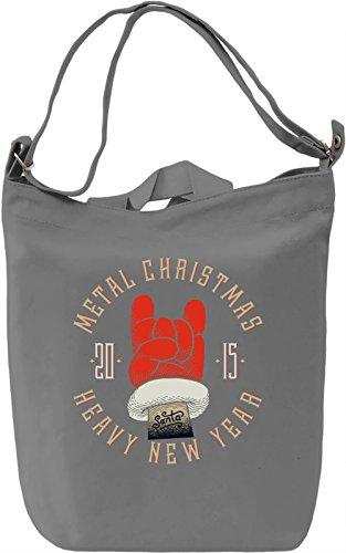 Metal christmas Borsa Giornaliera Canvas Canvas Day Bag  100% Premium Cotton Canvas  DTG Printing 