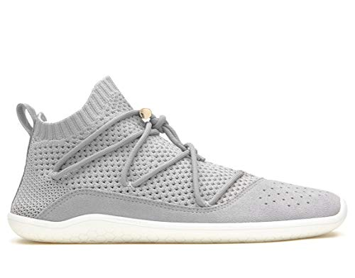 Vivobarefoot Kasana Sock Knit, Womens Everyday Trainer, with Barefoot Sole Grey