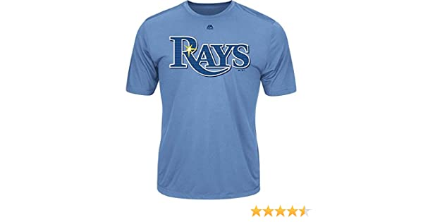 0ec4535d Tampa Bay Rays Wicking MLB Officially Licensed Youth & Adult Authentic  Replica Crewneck T-Shirt