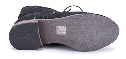 5119d9123e0650 ... Schuhtempel24 Damen Schuhe Klassische Stiefeletten Stiefel Boots  Blockabsatz 3 cm Schwarz ...