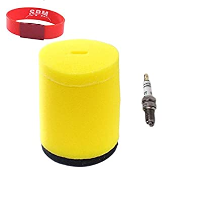 SPM Air Filter Spark Plug for 13781-19B00 Suzuki Quadrunner 250 4x4 2x4 King Quad 300 4x4 LT-4WD LT-F250F LT-F250 LT-F4WDX LT-F300F: Automotive