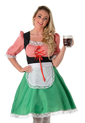 Women's Bavarian Hostess Costume - Halloween Costume (L)