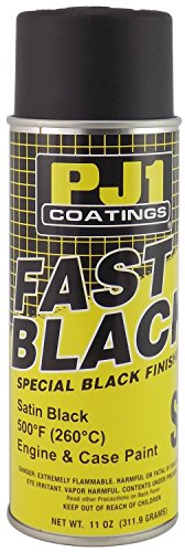Pj1 Paint (PJ1 16-SAT Satin Black Black Satin Engine Spray Paint (Aerosol), 11 oz)