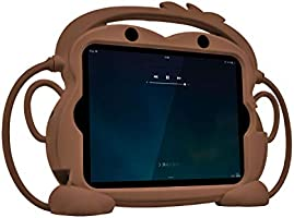 CHIN FAI iPad 2 3 4 Case for Kids, Child Proof Silicone Protective Car Case Cute Monkey Handle Stand Cover for Apple...
