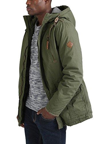 Green 3797 Capuche solid Veste 100 À Ivy Pour Clark Blouson D'hiver D'extérieur Jacke Coton Homme Own4OCqZ