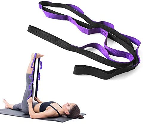 TOMSHOO Correa para Yoga Cinturón Yoga Estiramiento de Algodón para Pilates Ejercicios Fitness y Gimnasia (Púrpura): Amazon.es: Deportes y aire libre