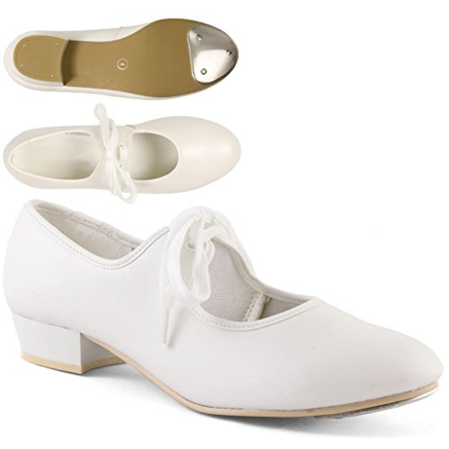 PVC Shoes Dance White Tap Low LHP Gear Heel wUIngnxY8O