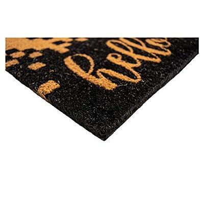 "Calloway Mills AZ104731729 Hello/Goodbye Doormat, 17"" x 29"" Black/Natural"