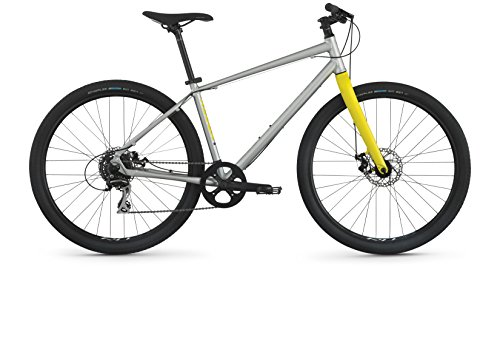 "Raleigh Redux 1 Urban Assault Bike, 17"" /MD Frame, Slver, Silver, 17"" / Medium"