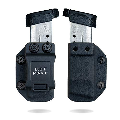 B.B.F Make Single IWB/OWB Magazine Holster | Mag Carrier | Retired Navy Owned Company | Available Model: M&P Shield 9/40, Glock 4/90/367, Sig P365 (Black - M&P Shield 9/40)