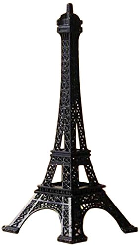 Homeford Eiffel Tower Paris France Metal Cake Stand, 6 by 2.5-Inch, Black