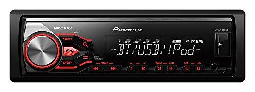Pioneer MVH-X380BT Autoradio mit RDS, Bluetooth, USB, AUX-Eingang für Mixtrax EZ/Apple iPod/iPhone Direktsteuerung (1-DIN) schwarz