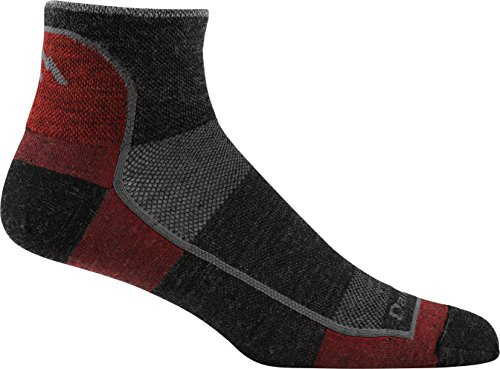 Darn Tough Vermont Men's 1/4 Light Athletic Socks (Style 1715), Team Dtv, Medium