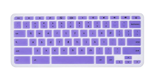 Keyboard Silicone Protector Skin Cover for 14 inch HP Chromebook 14-Inch Laptop (Semi-Violet)