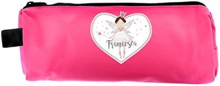 Estuche personalizado para niñas de hada rosa princesa para vuelta a la escuela, regalo personalizado para