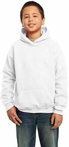 Gildan Heavy Blend Youth 8 oz., 50/50 Hood, XS, WHITE