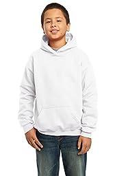 Gildan Heavy Blend Youth 8 oz., 50/50 Hood, Medium, WHITE
