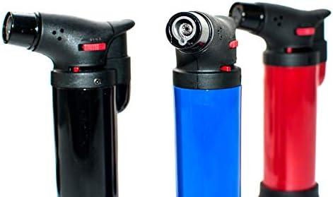 QBAK WSF-601 Micro Torch Soplete Flambeador a Gas Butano Recargable 1300ºC Soldador Desinfectador Gratinador
