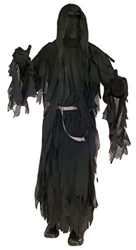 Black Mesh Face Robe - Ringwraith Costume - Standard - Chest Size 44