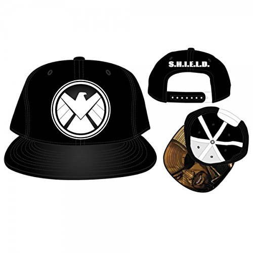 New Marvel Shield Logo Pu Snapback Cap Hat One Size Adult (Shield Hat)