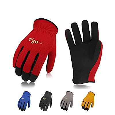 Vgo 5Pairs Multi-Functional Gardening Training Crafting Work Gloves, Value Pack(Size XL,5 Color,AL8736)