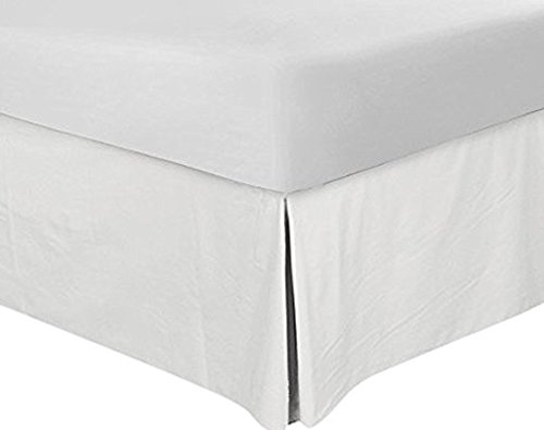 Utopia Bedding Bed Skirt Hotel Quality, Iron Easy, Quadruple Pleated, Wrinkle and Fade Resistant - by (Queen, White) (White Pleated Bedskirt)