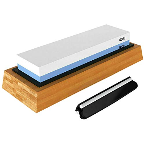Fan-Ling Whetstone,Knife Sharpening 1000/6000 Grit Stone Kitchen Whetstone Sharpener Wet Two Sided,Corrosion-Resistant, - Angle Hook 20 Degree