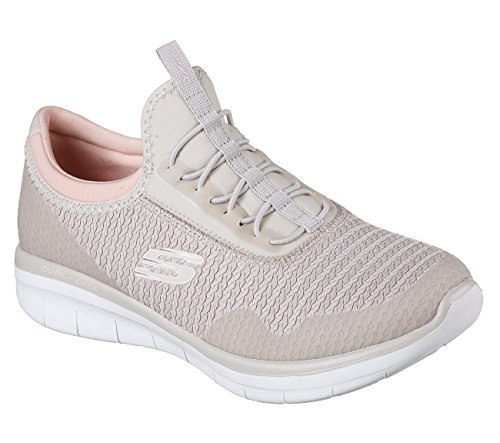 Skechers Damen Synergy 2.0-Mirror Image Slip On Sneaker Natural/ Light Pink