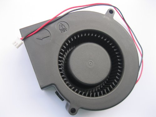 2 pcs Brushless DC Blower Fan 9733S 12V 2 Wires 97x97x33mm Sleeve-bearing Skywalking