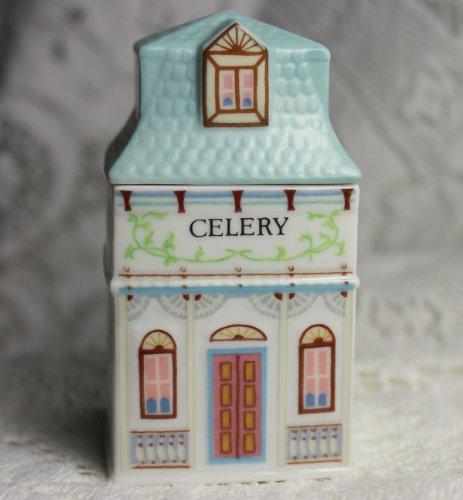 (Lenox 'Spice Village' Porcelain Victorian House Spice Jar - Celery)