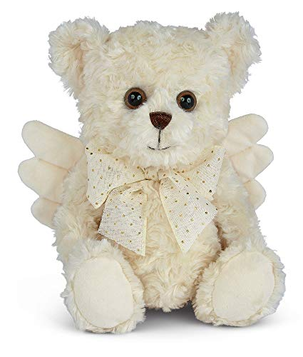 Bearington Peace Plush Stuffed Animal Angel Teddy Bear, 12