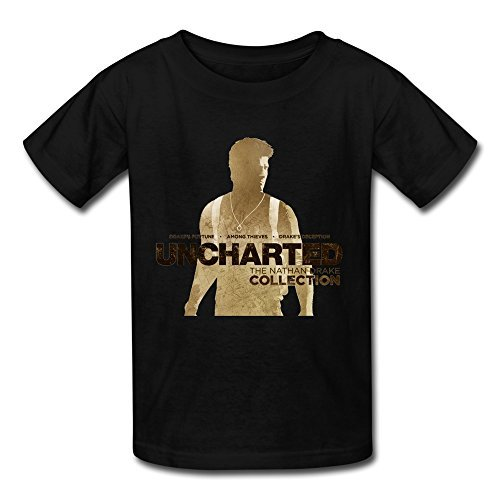Price comparison product image FEDNS Kid's Uncharted The Nathan Drake Collection Listing T Shirt M