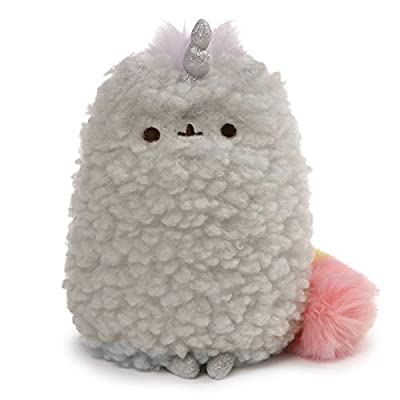 GUND 4061303 Pusheen's Little Sister Stormicorn Stormy Unicorn Cat Stuffed Animal Plush, Gray and Pink, 8