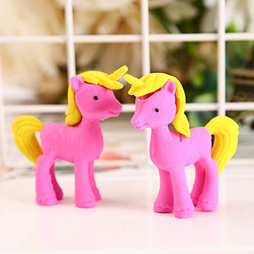 Mustwell 3pcs/Lot Unicorn Eraser Novelty Trojan Horse Erasers For Correction Kids Learning Tools Stationery Office School Supplies by Mustwell (Image #2)