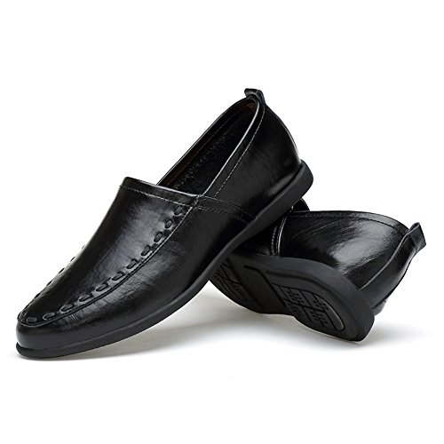 Dimensione Nero uomo scamosciata da EU in pelle Mocassino 47 Mocassini uomo slip Hongjun con pelle Color in on fodera 2018 vera shoes OAxHwqU
