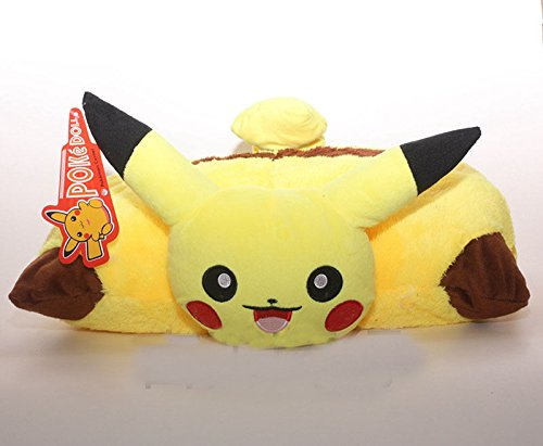 Pokemon Pikachu Pillow Pet Plush Cushion Transforming Pillow Cushion Doll (Omega Sapphire Ring)