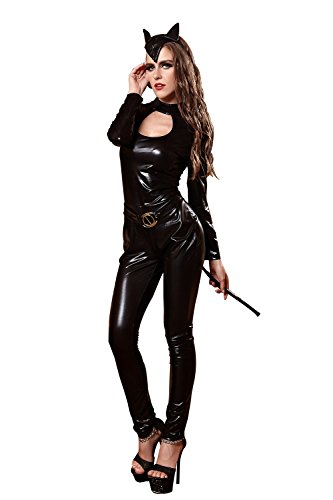 FLH Halloween Temptation Set Cosplay Trajes Juego uniformes Nightclub erogeno ( Color : Negro , Tamaño : L ) Negro
