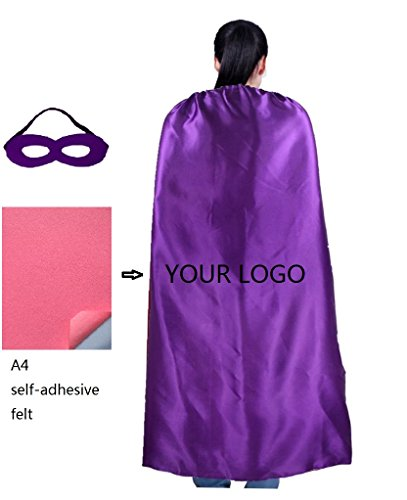[Ranavy Personalized Comic Superhero Capes -Superhero Party Supplies Men & Women (Purple)] (Work Team Costumes)