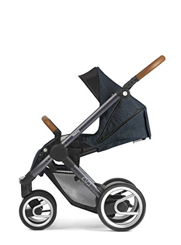 Mutsy Evo Industrial Edition Stroller, Blue with Dark Grey Chassis