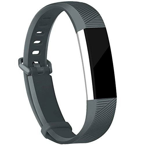 iGK Replacement Bands Compatible for Fitbit Alta and Fitbit Alta HR, Newest Adjustable Sport Strap Smartwatch Fitness Wristbands Slate Small