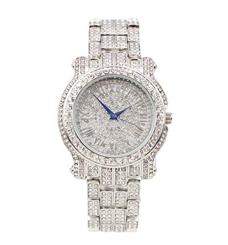 Bling-ed Out Ultimate Silver Hip Hop Royalty Watch - L0504 Silver (Hip Hop Bling)