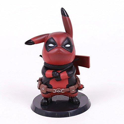 10 CM Pikachu Cos Deadpool Action Figure Toy