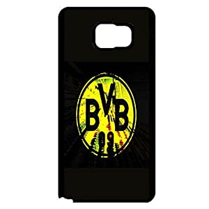 Delicate Yellow Logo Borussia Dortmund FC Phone Case Cover for Samsung Galaxy Note 5 FC Borussia Dortmund Unique Style