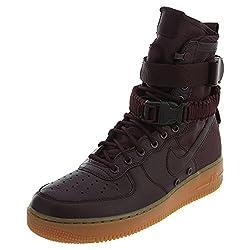 Nike Mens Sf Air Force 1 High Shoes Deep Burgundyblack 864024-600 Size 13