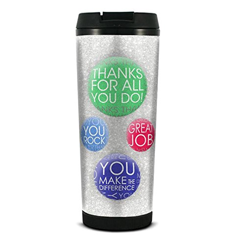 "Successories 741243""Thanks for All You Do"" Glitter Travel Tumbler, MultiCOLOR_NAMEed"