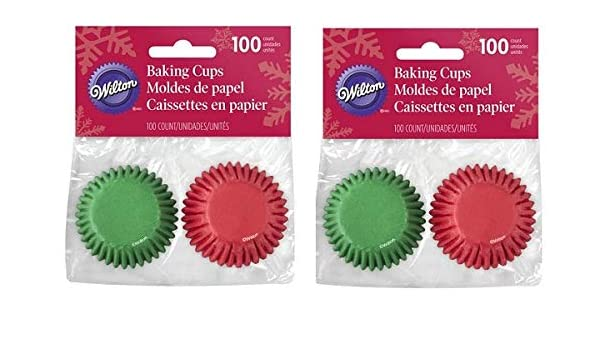 Amazon.com: Wilton 2 Pack Mini Paper Cups Red & Green. Mini Cupcake Liners, Baking Cup Holder and Muffin Baking Cup.: Kitchen & Dining