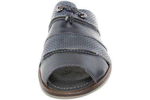 Bacco Bucci Hombres Laguna Blue Slip-on Mule Sandalias Zapatos Cuero Azul