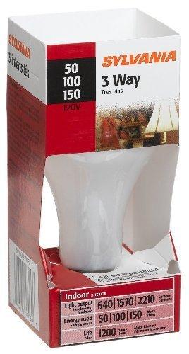 (12 Pack) Sylvania 18060 - 50/150A21/W/RP - 3-Way Soft White Incandescent Light Bulb, 50/100/150 Watt by Sylvania